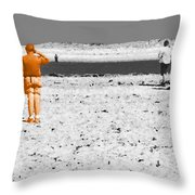 Focused Relationship Throw Pillow