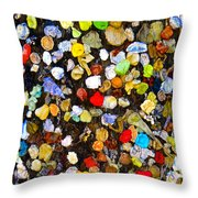 Colorful Gum Throw Pillow