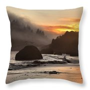 Fog And Fire Throw Pillow by Adam Jewell
