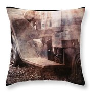 Fog And Rust Throw Pillow