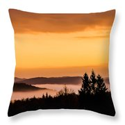 Fog Below Throw Pillow