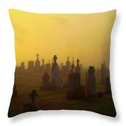 Looks Like Halloween Morning Scene Throw Pillow