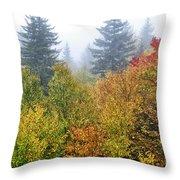 Fog Fall Day Throw Pillow