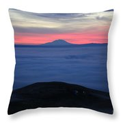 Fog In The Valley Throw Pillow