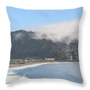 Fog On Pedro Point Throw Pillow