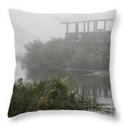 Fog On The Prairie Throw Pillow