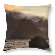 Fog Over Trinidad Throw Pillow