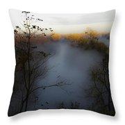 Fog Photo Throw Pillow