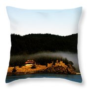 Fog Rolling By Throw Pillow