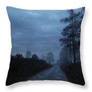 Fog Settling In Throw Pillow
