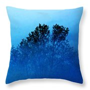 Fogged Out Throw Pillow