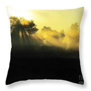 Fogged Up Sun Throw Pillow