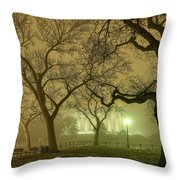 Foggy Approach To The Lincoln Memorial Throw Pillow
