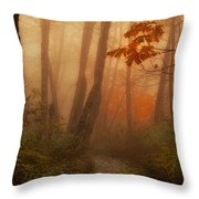 Foggy Autumn Throw Pillow