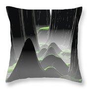 Foggy Canyon Pass Throw Pillow