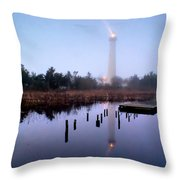 Foggy Cape May Light Throw Pillow