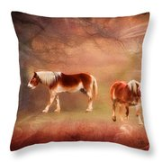 Foggy Day - Featured In Funky Images Group Throw Pillow