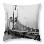 Foggy Day In Budapest Throw Pillow
