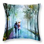 Foggy Day New Throw Pillow by Leonid Afremov