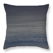 Foggy Day Over The Pacific Ocean Throw Pillow