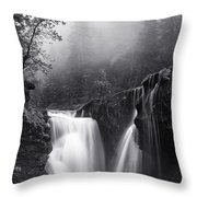 Foggy Falls Throw Pillow