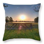 Foggy Field Throw Pillow