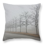 Foggy January Throw Pillow