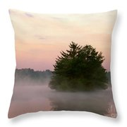 Foggy Lake Throw Pillow