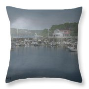 Foggy Coast Of Maine Throw Pillow