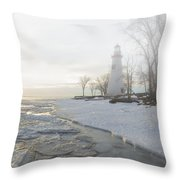 Foggy Marblehead Throw Pillow