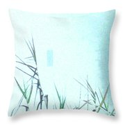 Foggy  Marsh Mornng Throw Pillow