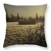 Foggy Meadow Throw Pillow