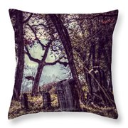 Foggy Memories Throw Pillow