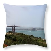 Foggy Morning At The Bay Throw Pillow