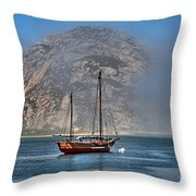 Foggy Morrow Bay Throw Pillow