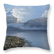Foggy Mountain Beyond Throw Pillow