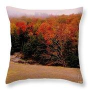 Foggy Mountain Landscape Throw Pillow