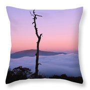 Foggy Mountain Morning Throw Pillow