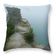 Foggy Overlook Throw Pillow