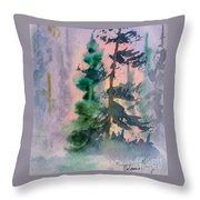 Foggy Patch Throw Pillow