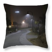 Foggy Path Throw Pillow by Nelson Watkins