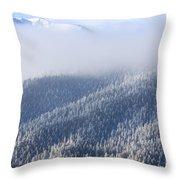 Foggy Peak Throw Pillow