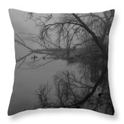 Foggy Reflections Throw Pillow