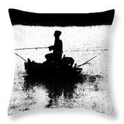 Foggy River Dawn Throw Pillow