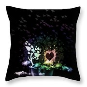 Foggy Thoughts Throw Pillow