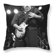 Foghat Guitarist Rod Price Throw Pillow