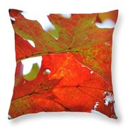 Foglie Di Rosse Throw Pillow