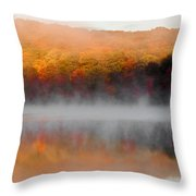 Foilage In The Fog Throw Pillow