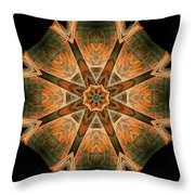 Folded 8-pointed Kaleidoscope Image Throw Pillow