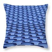 Folding Plastic Blue Seats Throw Pillow